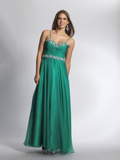 A-line Spaghetti Straps Chiffon Ankle-length Sleeveless Beading Prom Dresses at pickedlooks.com
