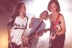 First taste of fame ... Chris Joannou, Daniel Johns and Ben Gillies as the Innocent Criminals in their breakthrough year 1994...