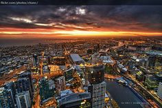 View of Melbourne from the Eureka Tower, Melbourne, VIC Melbourne Skyline, Melbourne Cbd, Melbourne House, Paris Skyline, New York Skyline, Eureka Tower, Great Photos, Amazing Photos, San Francisco Skyline