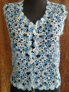 lace frivolite tatting vest/top