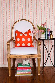 Society Social Official Photography June 2012 | The Duchess, Posh Polka Dot Tangerine, Vintage Porcelain Pekingese Dog