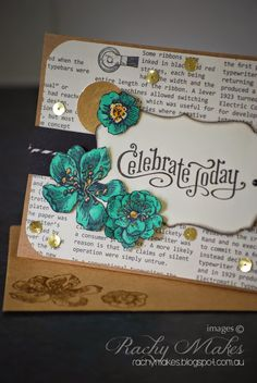 Rachy Makes: Sparkle and Shine: Playing with blender pens, gold foil sheets and Stampin' Up's Everything Eleanor set