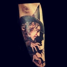 """WIZARD OF OZ' WICKED WITCH TATTOO"