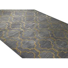 Meridian Rugmakers Mundra Hand-Tufted Gray/Yellow Area Rug & Reviews…