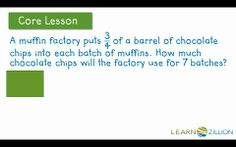 Multiply a whole number by a fraction using area models (2)