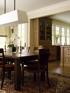 Warwick Country Home Built In Hutch, Kitchen Dining, Dining Table, Manhattan Apartment, Craftsman Style Homes, Country Estate, Open Concept, House, Furniture