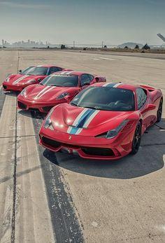 Ferrari 458 Speciale, Ferrari 430 Scuderia and Ferrari 360 Modena