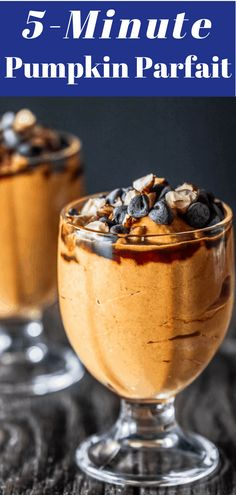 You'll Love This Greek Yogurt Pumpkin Parfait Healthier, Quicker Alternative To Pumpkin Pie But W All The Cozy Fall Flavors 5 Minutes. Get The Recipe Today Just Desserts, Delicious Desserts, Dessert Recipes, Trifle Desserts, Pumpkin Recipes, Fall Recipes, Pumpkin Foods, Thm Recipes, Mediterranean Desserts