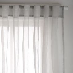 Nice Cohen Silver Sheer 180x250cm Concealed Tab Top Curtain