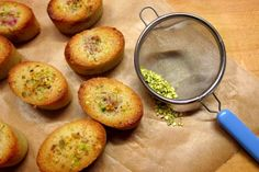 Raspberry and pistachio friands