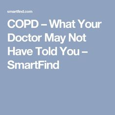 27 Best copd images in 2019 | Lunges, Depression, Lungs
