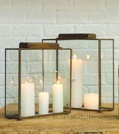 Large Lancaster Candle Lantern with Screen - Barn Roof - Candle ...