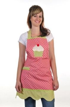 Cotton Ginnys Cupcake Cute Apron Pattern by QuiltedToATea on Etsy, $8.00