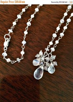 30 OFF SALE Wedding Necklace Bridal Jewelry by DoolittleJewelry
