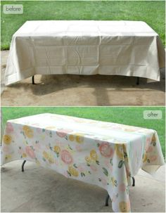 The Lovely Cupboard: DIY: Paint a Floral Table Cloth