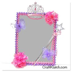 Diy princess mirror room decor - dollar store craft in 2019 Diy Room Decor For Girls, Diy Crafts For Bedroom, Diy For Girls, Room Girls, Girl Rooms, Girls Bedroom, Princess Room Decor, Princess Crafts, Princess Bedrooms