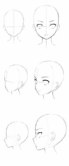 Anime Face Drawing, How To Draw Manga, Learn How To Draw, How To Draw Anime, Female Face Drawing, Learn Drawing, Drawing Skills, Drawing Heads, Drawing Base