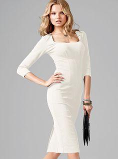 Victoria's Secret White Ponte Sheath Dress