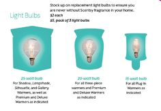 Scentsy FAQ's light bulbs Order you Scentsy products today at https://breed.scentsy.us Follow me on Facebook at www.facebook.com/reed.brandi16/  You can also email me at brandireed2003@hotmail.com with any questions or for more information about Scentsy.