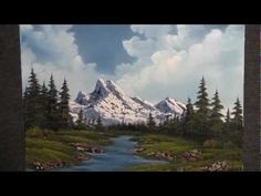Mountain by the River oil painting by Kevin Hill