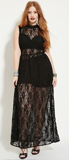 I would use this as a swim cover-up!  Plus Size Lace Maxi Dress
