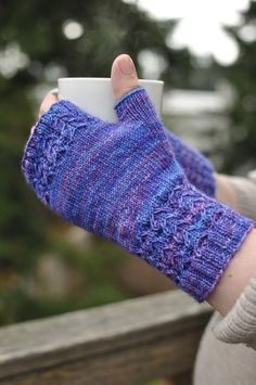 Alameda Fingerless ... by nonapearl | Knitting Pattern - Looking for your next project? You're going to love Alameda Fingerless Gloves by designer nonapearl. - via @Craftsy