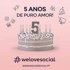 ♡ We Love Social - 5º Aniversário ♡     Um grande obrigado a todos os nossos clientes, fornecedores, parceiros e amigos por toda a confiança depositada em nós e por acreditarem no nosso trabalho.   Foram 5 anos de puro amor!! Que venham muitos mais anos ao vosso lado 💟   www.welovesocial.pt    #Obrigado #Aniversário #WeLoveSocial #Love #WeAreFamily #5Anos #5ElementosDeEquipa Grande, 5 Years, Thanks, Friends