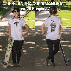 Alejandra 'Salamandra' lleva cinco años patiando pero es desde hace un año que se enganchó a las carreras y a las competiciones después de un excelente resultado en Kozakov