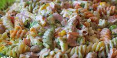 Studený cestovinový šalát - Tinkine recepty Slovak Recipes, Russian Recipes, Cooking Recipes, Healthy Recipes, Healthy Food, Pasta Salad, Salads, Sandwiches, Food And Drink
