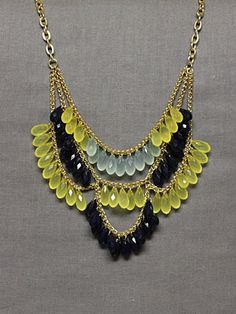 Veron Drop Necklace in Lemon. I don't love the color combo but I love everything else!
