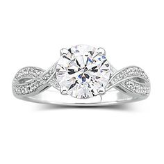 DiamonArt Cubic Zirconia 3 Stone Ring found at JCPenney