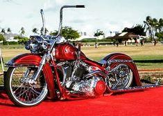 No photo description available. Harley Bobber, Harley Softail, Harley Bikes, Harley Davidson Motorcycles, Bagger Motorcycle, Motorcycle Style, Custom Harleys, Custom Bikes, Custom Baggers