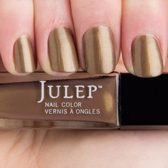 Julep Faye - liquid bronze shimmer swatched on top