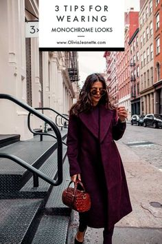 3 Tips for Wearing a Monochromatic Look   monochromatic look   style tips   balance   texture   color   winter style tips    Olivia Jeanette #monochromaticlook #styletips