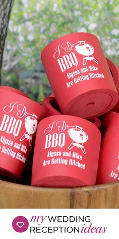 Engagement Party Favor Idea - Give everyone something to talk about with custom printed arctic foam can coolers as thank favors at your wedding engagement party. Engagement Party Planning, Engagement Party Favors, Wedding Engagement, Casual Wedding, Summer Wedding, Dream Wedding, Pig Roast Party, 60 Wedding Anniversary, Cake Accessories