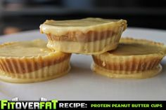 A quick and simple recipe for delicious high protein low fat peanut butter cups!