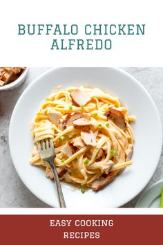 Buffalo chicken alfredo recipe to try at home Easy Dinners For Two, Easy Family Meals, Family Recipes, Best Chicken Recipes, Best Dinner Recipes, Lunch Recipes, Easy Healthy Recipes, Healthy Food, Easy Cooking