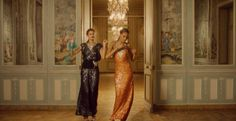 From Julie de Libran for Sonia Rykiel, the absolute essence of the house updated for now: sequins! Strass! Slink! Taylor and Cindy add a touch of sass, just because.