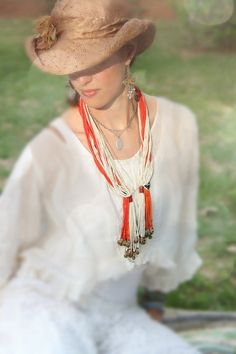 JuJu in those Bells: Vintage Fulani African Bead Necklace / Red, White Tribal Jewelry / Authentic, Rare, Magical Fashion / Seed Beads, Brass - WomanShopsWorld African Beads Necklace, African Jewelry, Tribal Necklace, Tribal Jewelry, Tassel Necklace, Ankara Fabric, Beautiful Couple, Festival Fashion, Trending Outfits
