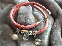 Wickelarmbänder - Tolles Wickelarmband rosa - ein Designerstück von Ringfreak bei DaWanda