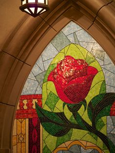 """Wow. Beautiful details at the new """"Be our guest"""" restaurant in Disney World. Must go!"""