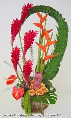 Photos : Avante Gardens Florist Custom Floral Design Gallery - Anaheim, CA : Large Tropical Desgin