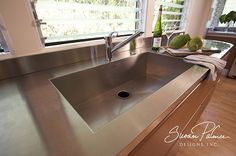 Manoa Modern Kitchen, Stainless Steel Counter & Sink, Susan Palmer Designs by Susan Palmer Designs, via Flickr