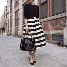 I love this skirt - think I could make something similar work for the office.
