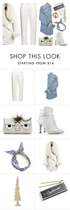 """White denim"" by bo-jane ❤ liked on Polyvore featuring Balenciaga, Fendi, Alberta Ferretti, WithChic, Hester & Cook and winterwhite"
