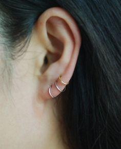 Cartilage Hoop EarringsCartilage EarringsNose Ring by TakeOnMe7