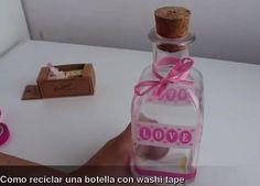 Reciclar botellas con washi tape | Decorar tu casa es facilisimo.com