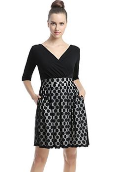 Phistic Womens Bailey Polka Dot Skirt Fit  Flare Dress  Black 16 * Click image for more details. (This is an affiliate link and I receive a commission for the sales)