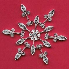Step-by-step instructions for making three snowflake ornaments.