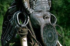 Africa |  Mursi woman - Ethiopia.
